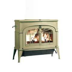 Vermont Encore Two In One Wood Stove In Biscuit Enamel  0002041-I