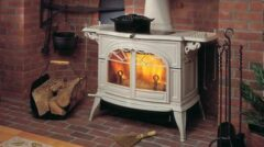 Vermont Intrepid Ii Wood Stove In Biscuit Enamel 0001997-I