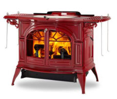 Vermont Defiant Two In One Wood Stove In Bordeaux Enamel