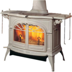 Vermont Defiant Two In One Wood Stove In Biscuit Enamel