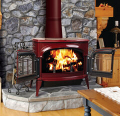 VERMONT ENCORE TWO IN ONE WOOD BORDEAUX STOVE LATTICE DOORS