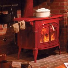 Vermont Encore Two-in-one Wood Stove Classic Black