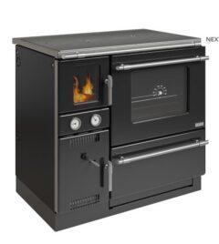 WAMSLER K148F RHO BLACK/CHROME GLASS FIRE BOX DOOR CENTRAL HEATING COOKER