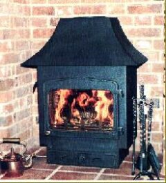 WOODWARM FIREVIEW 12KW LOW CANOPY