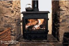 WOODWARM FIREVIEW 12KW PLUS FLAT TOP