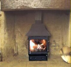 WOODWARM FIREVIEW 5KW SLENDER LOW CANOPY R/F ONLY