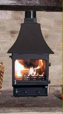 WOODWARM FIREVIEW 5KW SLENDER PROFILED F/T (6KW)