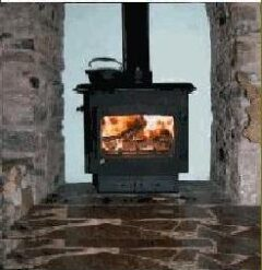 WOODWARM FIREVIEW 7WK SLENDER FLAT TOP (9KW)