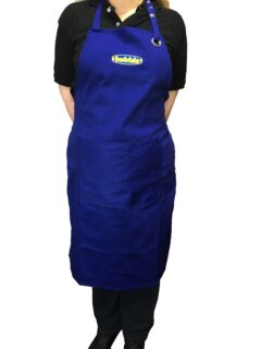 Bubble Royal Blue Cotton Cooking Apron 94cm Long