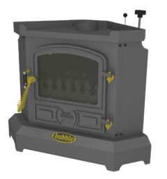 BUBBLE CORNER 4KW NO BOILER OIL STOVE ANTHRACITE