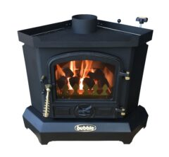 BUBBLE CORNER 4KW NO BOILER OIL STOVE MATT BLACK