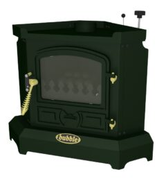 BUBBLE CORNER 4KW NO BOILER OIL STOVE MATT GREEN