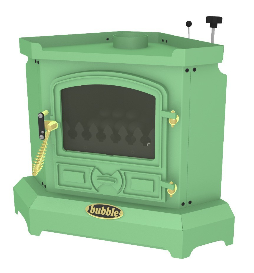 Bubble Corner 4kw No Boiler Oil Stove Light Green