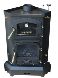 Bubble Corner Pie Pod 3-1kw Wet Oil Matt Black Oven Stove