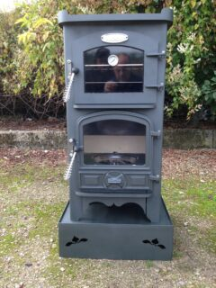 BUBBLE 1 PIE POD 2-3KW WET OIL DARK FOREST GREEN OVEN STOVE