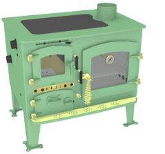 Bubble Back Cabin Cooker Boiler Solid Fuel Light Green