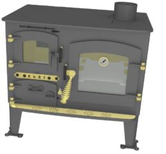 Bubble Back Cabin Cooker Solid Fuel Anthracite