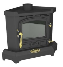 Bubble Corner 4kw No Boiler Solid Fuel Stove Matt Black