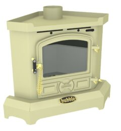Bubble B1c1-3 Bubble Corner 4kw Solid Fuel Wet Stove In Almond