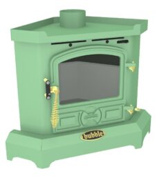 BUBBLE B1C1-3 BUBBLE CORNER 4KW SOLID FUEL WET STOVE LIGHT GREEN