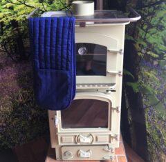 Plain Royal Blue Cotton Double Oven Glove 89cm