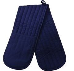Plain Royal Blue Cotton Double Oven Glove 89cm
