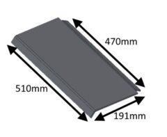 Hunter Herald 8 Slimline Top Steel Baffle Plate CE HHE08042