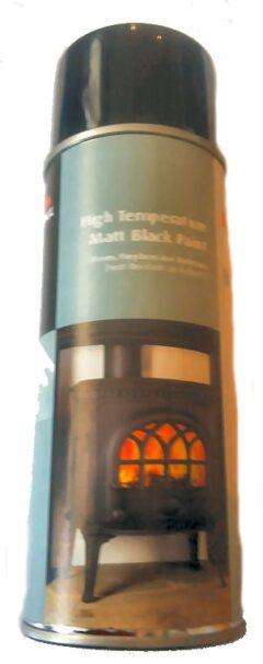 Use 50027282 Jotul High Temp Matt Black Stove Paint 400ml