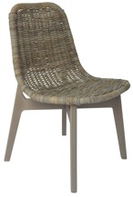 Glenweave Dining Chair ( L50 X D60 X H86cm ) In Grey