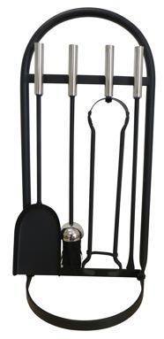 Glenweave Black & Nickel Companion Set