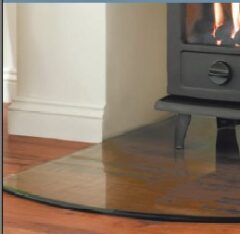 Morso Glass Hearth Plate W100cm X D120cm