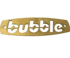 BUBBLE BADGE BRASS