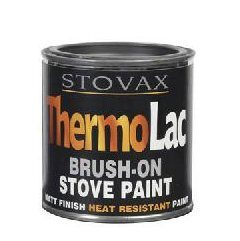 Stovax Thermolac Brush On Matt Black Paint 200ml