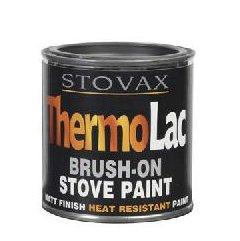 Stovax Thermolac Brush On Matt Black Paint 200ml