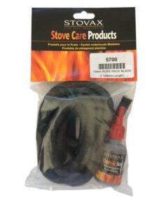 Stovax 13mm Black Door Rope Seal With Adhesive - 2m Pack 5700