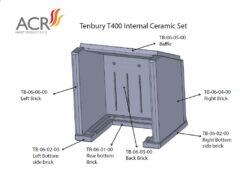 ACR TENBURY T400 REAR BOTTOM BACK BRICK CERAMIC