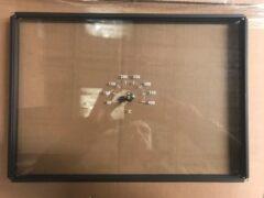 WAMSLER K178 COMPLETE DOOR GLASS & THERMOMETER 395 X 280