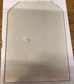 YEOMAN CE 6 SIDED DOOR GLASS 168 X 231MM GL0251